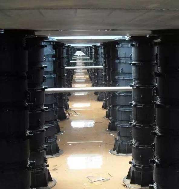 万能支撑器排水架空施工图